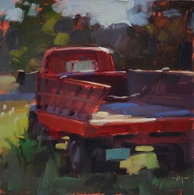 """Out to Pasture"" original fine art by Carol Marine"
