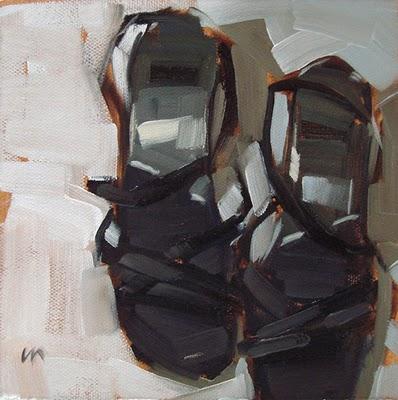 """Strappy Shoes"" original fine art by Carol Marine"