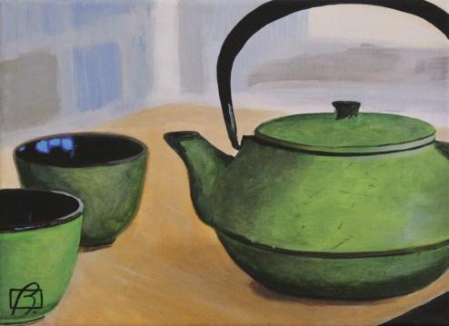 """""""Japanese Tea Pot"""" original fine art by Andre Beaulieu"""