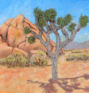 """Joshua Tree Revisited"" original fine art by Robert Frankis"