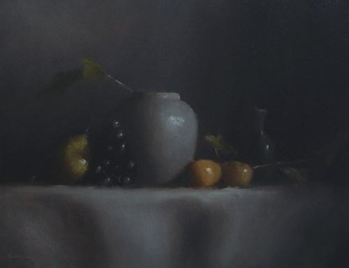 """Arrangement with Vase"" original fine art by Neil Carroll"