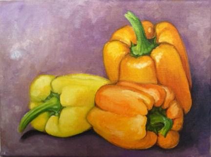 """Peppers 4"" original fine art by Elaine Lynest"
