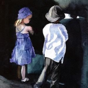 """Encounter"" original fine art by Mariko Irie"