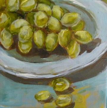 """Grapes"" original fine art by Sabine Hüning"