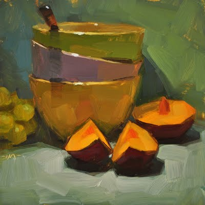 """Plumtastic"" original fine art by Carol Marine"