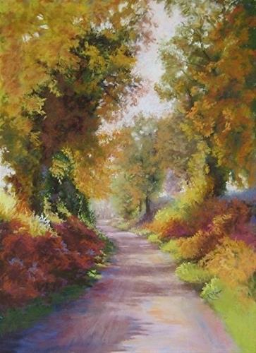 """""""Bracken and Oak"""" original fine art by Ruth Mann"""