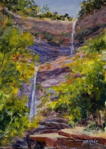 """Kaaterskill Falls"" original fine art by Jamie Williams Grossman"