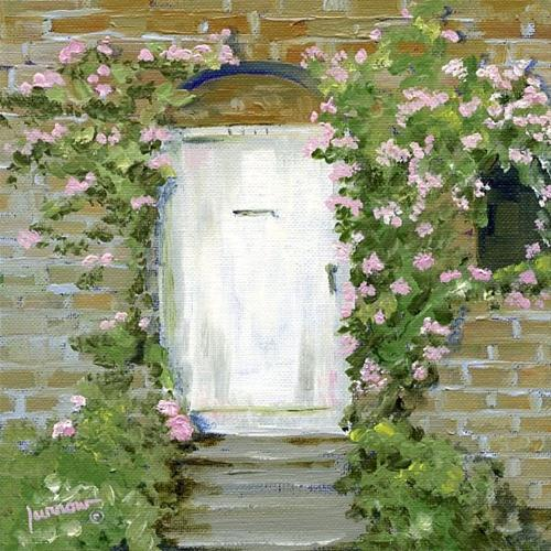 """German Door"" original fine art by Sue Furrow"