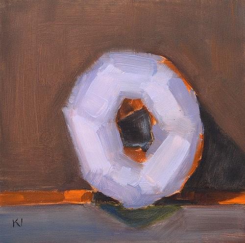 """Purple Donut"" original fine art by Kevin Inman"