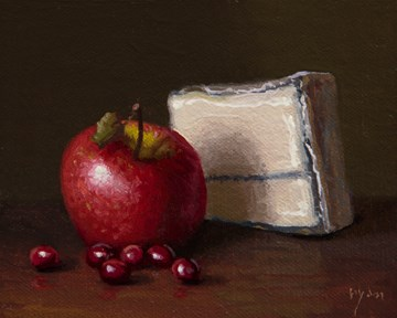 """""""Golden Series: Apple, Cranberries, and Humboldt Fog ( + Lax at AstroPoets)"""" original fine art by Abbey Ryan"""