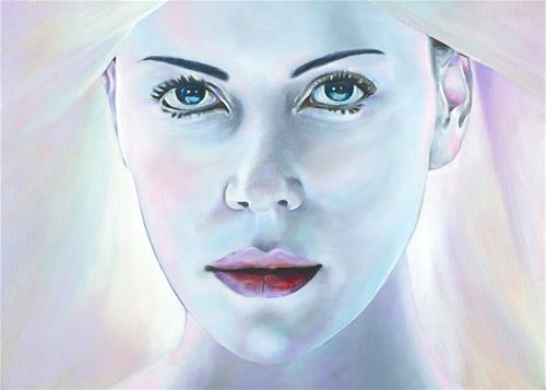 """""""Aeon Flux"""" original fine art by David Clark"""
