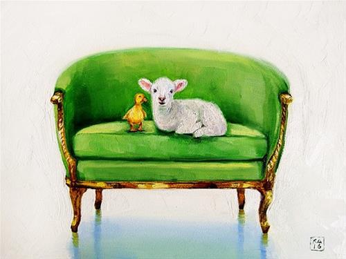 """newbies"" original fine art by Kimberly Applegate"