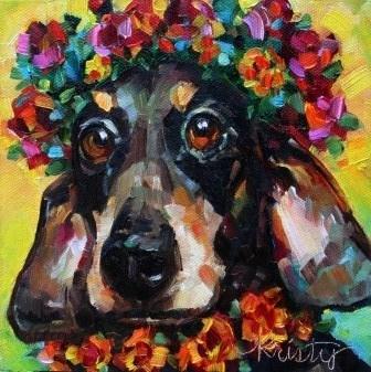"""""""MOXIE DOXIE"""" original fine art by Kristy Tracy"""
