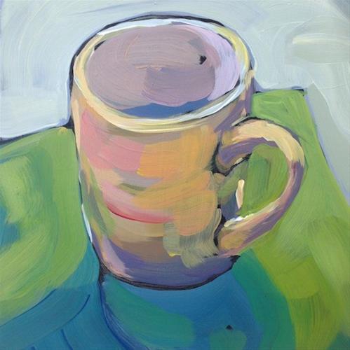 """Mug On Green"" original fine art by Kat Corrigan"