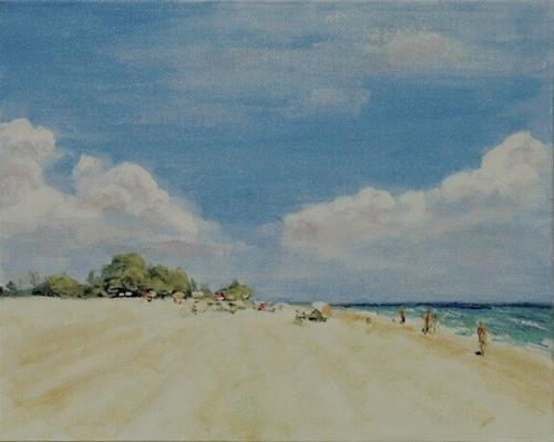 """Treasure Island Sand"" original fine art by Ted Michaelis"