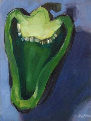 """Happy Bell --- SOLD"" original fine art by Carol Marine"
