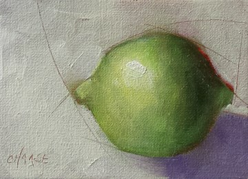 """""""Day 2 Lime"""" original fine art by Cindy Haase"""