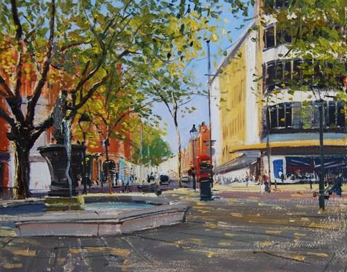 """Morning Light Sloane Square I"" original fine art by Adebanji Alade"