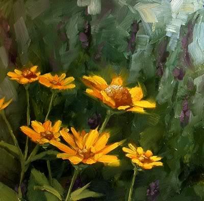 """Wild Flowers"" original fine art by Michael Naples"