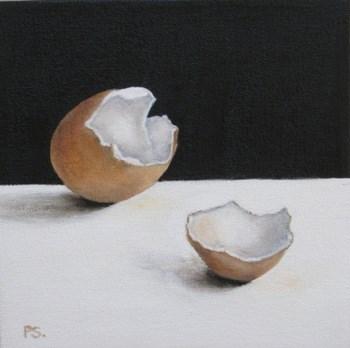 """Jumbo's on black & white"" original fine art by Pera Schillings"