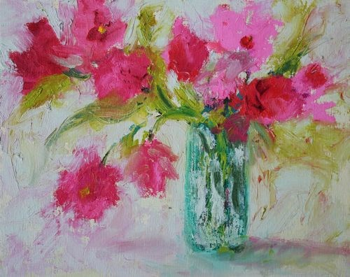 """Spring Flowers, Contemporary Floral Paintings by Arizona Artist Amy Whitehouse"" original fine art by Amy Whitehouse"