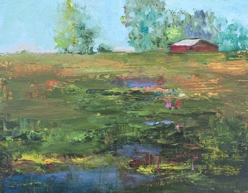 """""""Country Road 2, Contemporary Landscape Paintings by Arizona Artist Amy Whitehouse"""" original fine art by Amy Whitehouse"""
