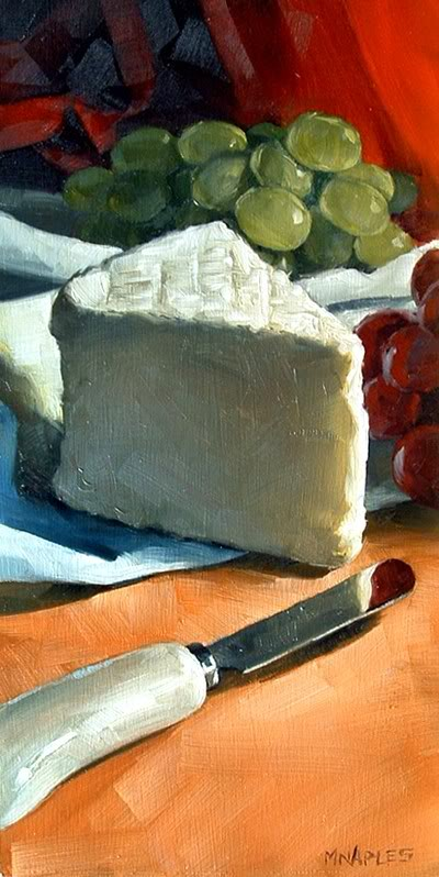 """Wedge of Brie"" original fine art by Michael Naples"