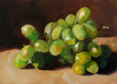 """""""Green Grapes"""" original fine art by Cindy Haase"""