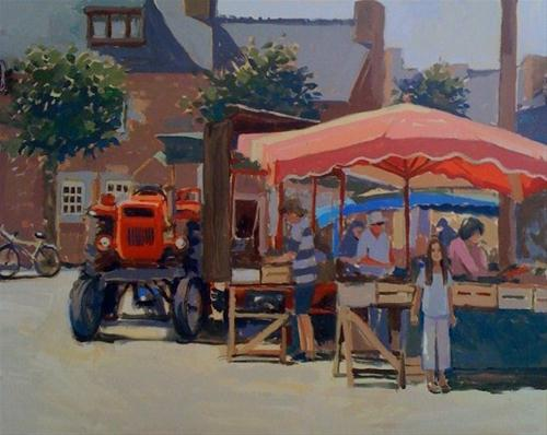"""""""Chloe in the market place"""" original fine art by Haidee-Jo Summers ROI"""