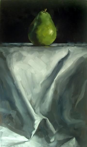 """Podium Pear"" original fine art by Michael Naples"