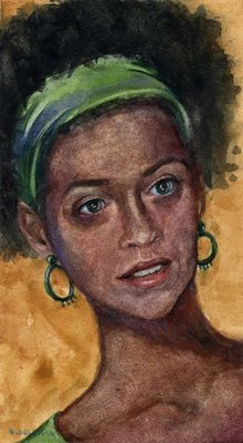"""Watercolor: Kass"" original fine art by Belinda Del Pesco"