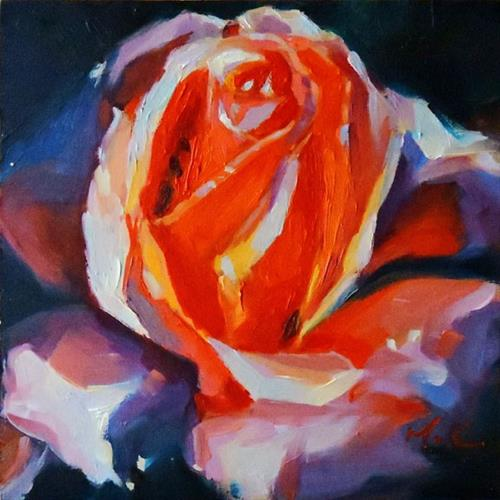 """Blooming rose"" original fine art by Michelle chen"