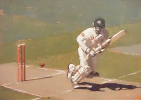 """TEST CRICKET AT THE MCG  #3"" original fine art by Helen Cooper"