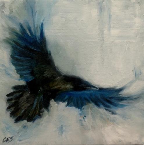 """Raven Study"" original fine art by ~ces~ Christine E. S. Code"