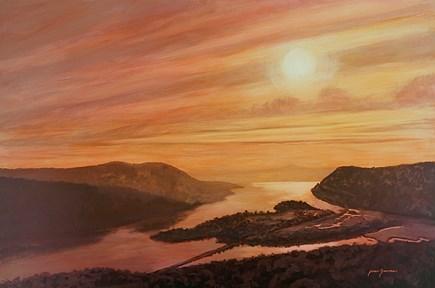 """Copper Sunrise"" original fine art by Jamie Williams Grossman"