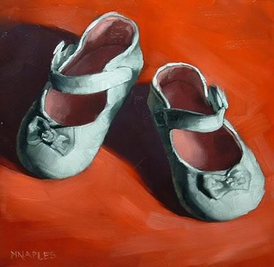 """""""Baby Shoes"""" original fine art by Michael Naples"""