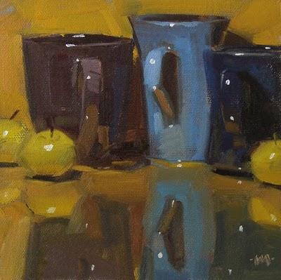 """""""Coffee Clutch"""" original fine art by Carol Marine"""