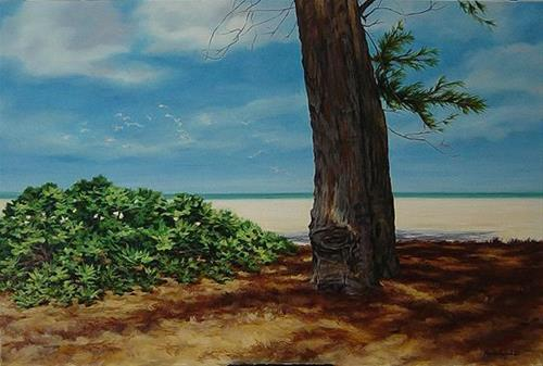 """Dania Beach"" original fine art by Maria Levandowski"