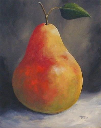 """""""The Christmas Pear"""" original fine art by Torrie Smiley"""