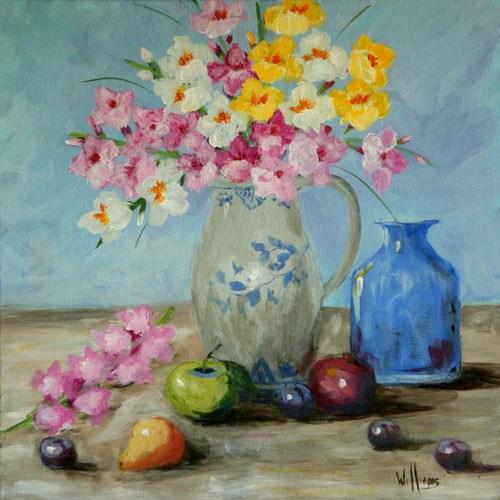 """Gladiolus"" original fine art by Sunny Williams"