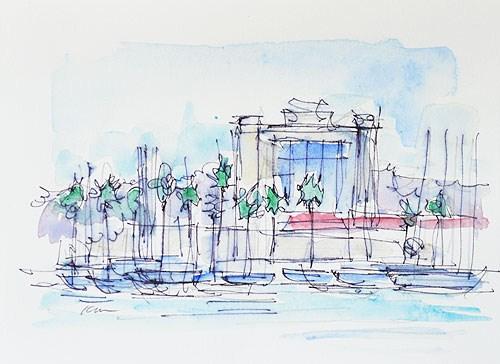 """""""Harbor Island Watercolor"""" original fine art by Kevin Inman"""