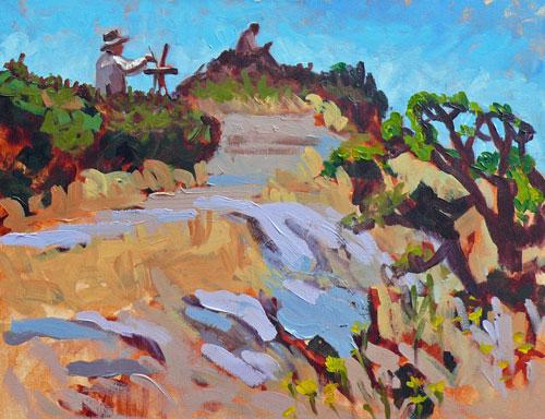 """Anderson Hill"" original fine art by Darlene Young"