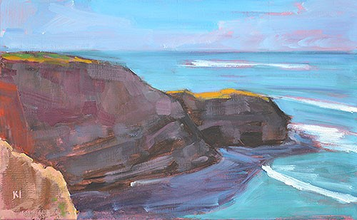 """Sunset Cliffs"" original fine art by Kevin Inman"