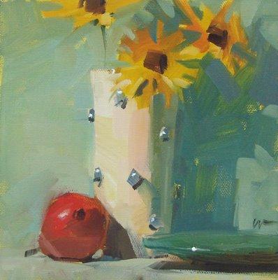 """Toppled"" original fine art by Carol Marine"