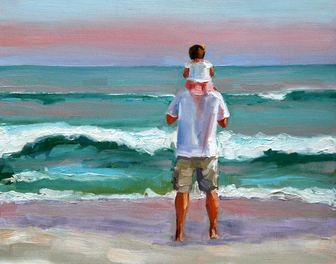 """daddy's girl"" original fine art by Carol Carmichael"