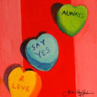 """Always Say Yes 2 Love"" original fine art by JoAnne Perez Robinson"