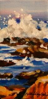 """Ocean Spray"" original fine art by JoAnne Perez Robinson"