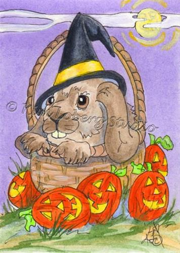 """The Witch - er Bunny"" original fine art by Kim Loberg"
