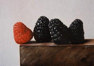"""Berries"" original fine art by Jonathan Aller"