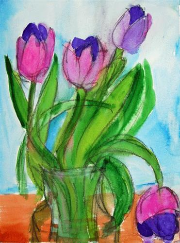 """""""Too Much Party"""" original fine art by Donna Crosby"""